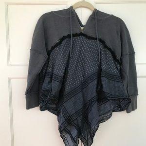 Free People Bandana Hoodie Sweatshirt. Size small